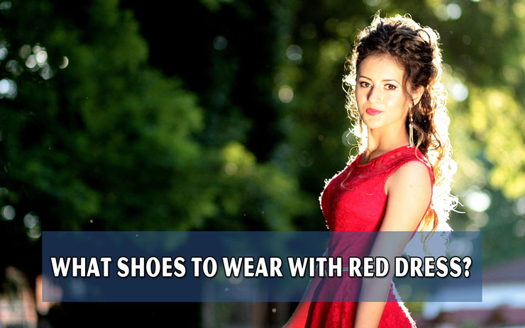 What shoes to wear with red dress